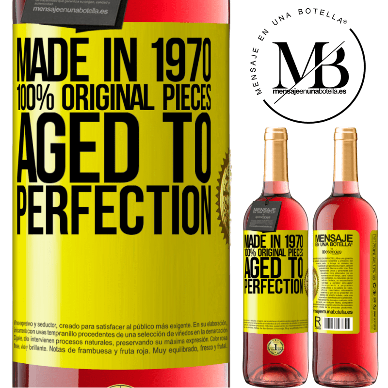 24,95 € Free Shipping   Rosé Wine ROSÉ Edition Made in 1970, 100% original pieces. Aged to perfection Yellow Label. Customizable label Young wine Harvest 2020 Tempranillo