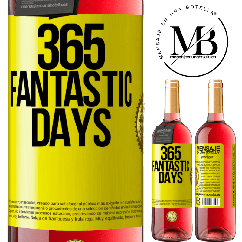 24,95 € Free Shipping   Rosé Wine ROSÉ Edition 365 fantastic days Yellow Label. Customizable label Young wine Harvest 2020 Tempranillo