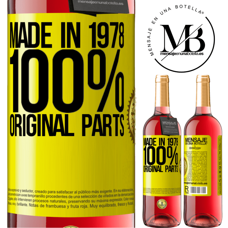 24,95 € Free Shipping | Rosé Wine ROSÉ Edition Made in 1978. 100% original parts Yellow Label. Customizable label Young wine Harvest 2020 Tempranillo