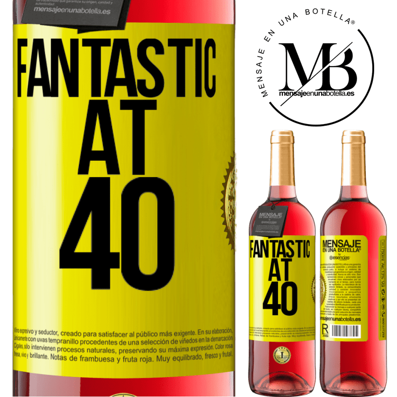 24,95 € Free Shipping   Rosé Wine ROSÉ Edition Fantastic at 40 Yellow Label. Customizable label Young wine Harvest 2020 Tempranillo