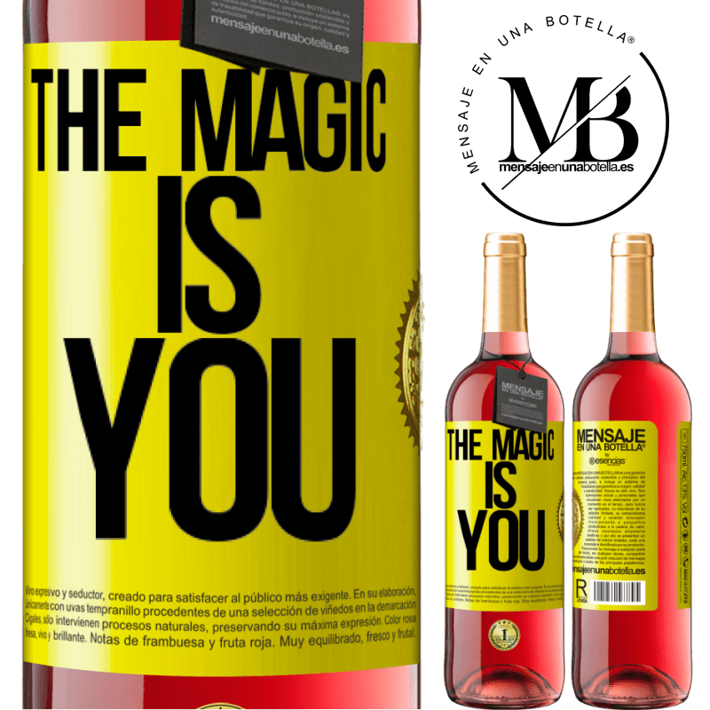 24,95 € Free Shipping | Rosé Wine ROSÉ Edition The magic is you Yellow Label. Customizable label Young wine Harvest 2020 Tempranillo