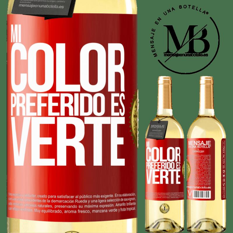 24,95 € Free Shipping   White Wine WHITE Edition Mi color preferido es: verte Red Label. Customizable label Young wine Harvest 2020 Verdejo