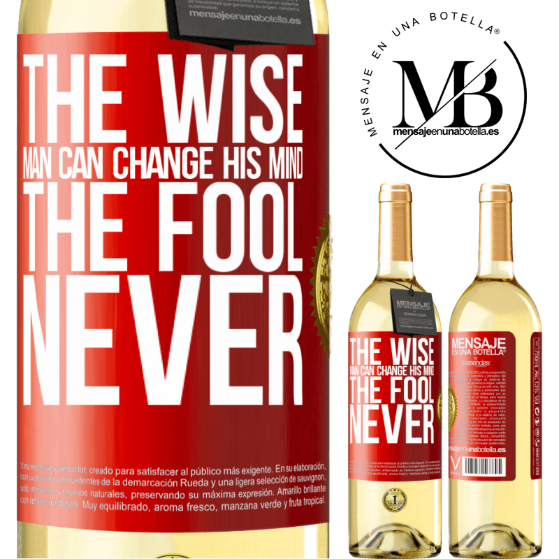 24,95 € Free Shipping   White Wine WHITE Edition The wise man can change his mind. The fool, never Red Label. Customizable label Young wine Harvest 2020 Verdejo