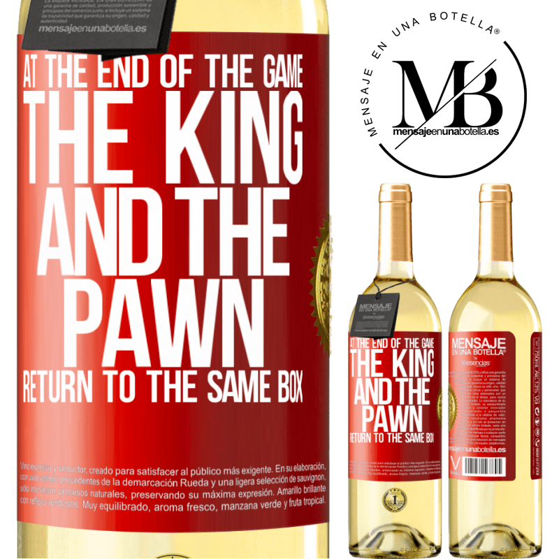 24,95 € Free Shipping   White Wine WHITE Edition At the end of the game, the king and the pawn return to the same box Red Label. Customizable label Young wine Harvest 2020 Verdejo