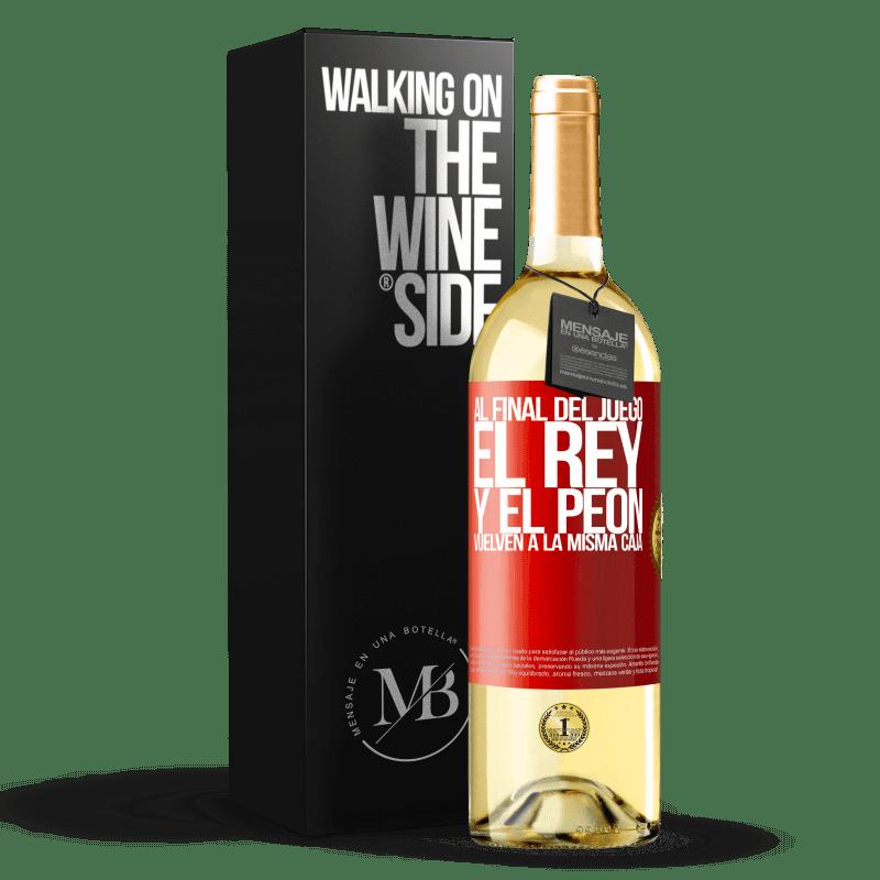 24,95 € Envoi gratuit   Vin blanc Édition WHITE A la fin de la partie, le roi et le pion retournent dans la même case Étiquette Rouge. Étiquette personnalisable Vin jeune Récolte 2020 Verdejo