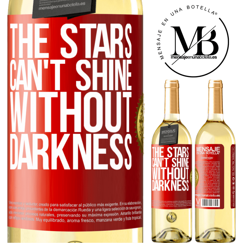 24,95 € Free Shipping   White Wine WHITE Edition The stars can't shine without darkness Red Label. Customizable label Young wine Harvest 2020 Verdejo