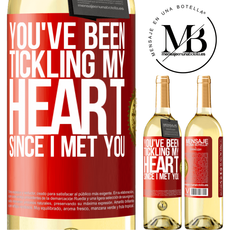 24,95 € Free Shipping | White Wine WHITE Edition You've been tickling my heart since I met you Red Label. Customizable label Young wine Harvest 2020 Verdejo