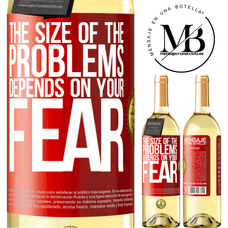 24,95 € Free Shipping   White Wine WHITE Edition The size of the problems depends on your fear Red Label. Customizable label Young wine Harvest 2020 Verdejo