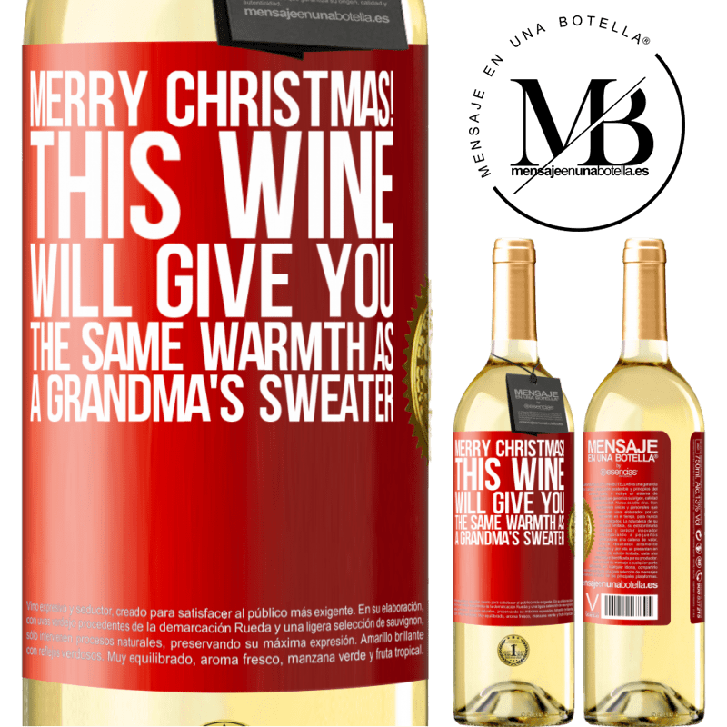 24,95 € Free Shipping | White Wine WHITE Edition Merry Christmas! This wine will give you the same warmth as a grandma's sweater Red Label. Customizable label Young wine Harvest 2020 Verdejo