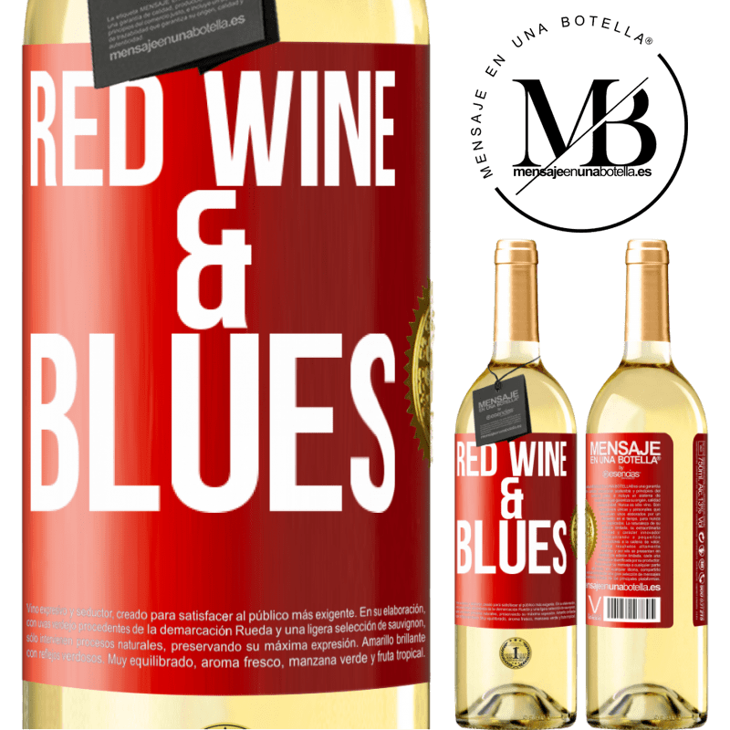 24,95 € Free Shipping | White Wine WHITE Edition Red wine & Blues Red Label. Customizable label Young wine Harvest 2020 Verdejo