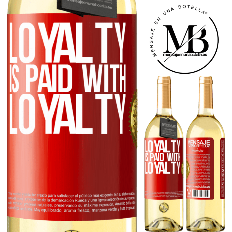 24,95 € Free Shipping | White Wine WHITE Edition Loyalty is paid with loyalty Red Label. Customizable label Young wine Harvest 2020 Verdejo