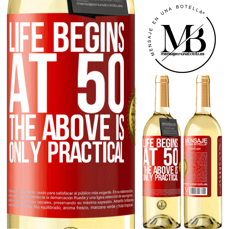 24,95 € Free Shipping   White Wine WHITE Edition Life begins at 50, the above is only practical Red Label. Customizable label Young wine Harvest 2020 Verdejo