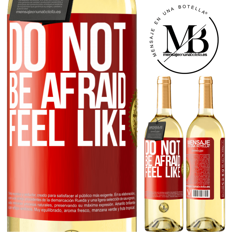 24,95 € Free Shipping   White Wine WHITE Edition Do not be afraid. Feel like Red Label. Customizable label Young wine Harvest 2020 Verdejo
