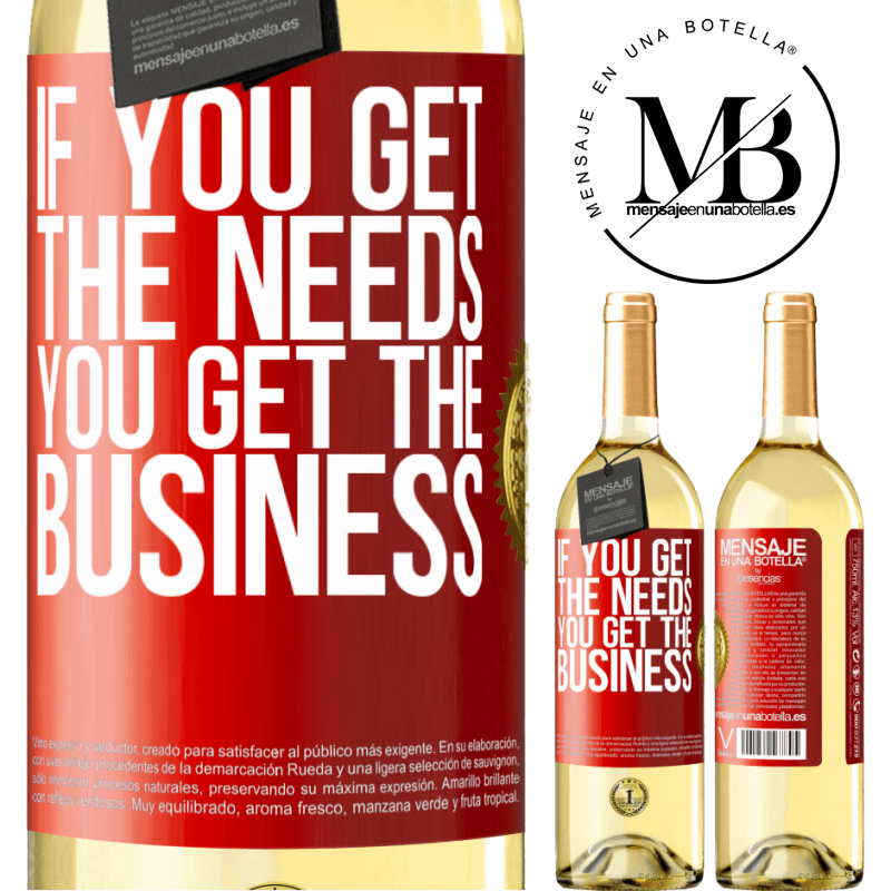 24,95 € Free Shipping | White Wine WHITE Edition If you get the needs, you get the business Red Label. Customizable label Young wine Harvest 2020 Verdejo