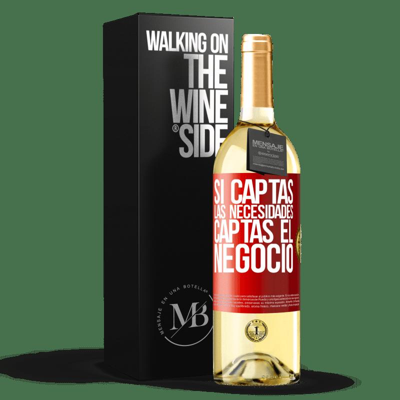 24,95 € Envoi gratuit | Vin blanc Édition WHITE Si vous obtenez les besoins, vous obtenez l'entreprise Étiquette Rouge. Étiquette personnalisable Vin jeune Récolte 2020 Verdejo