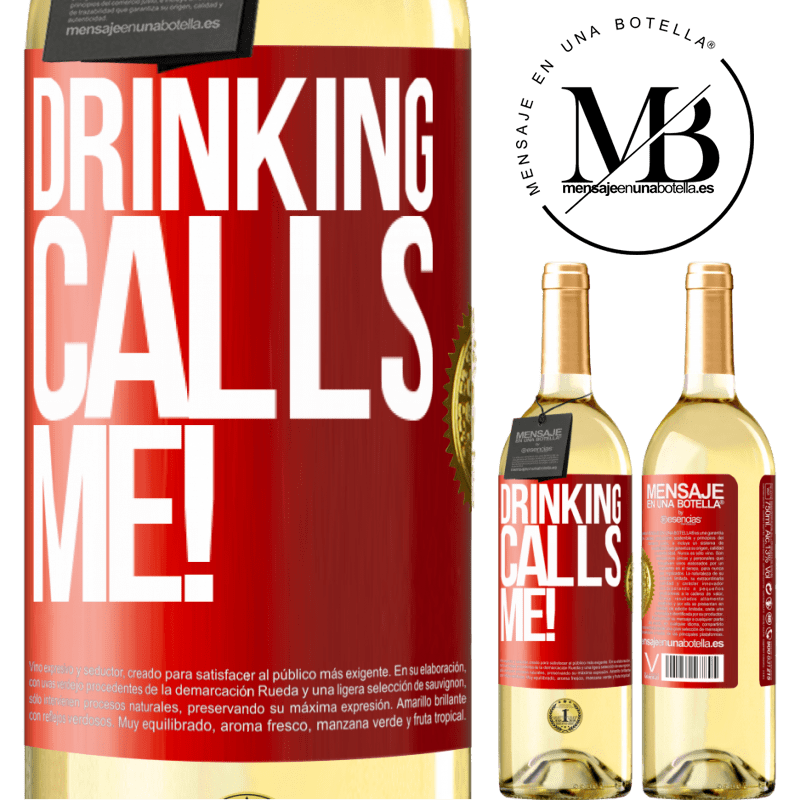 24,95 € Free Shipping | White Wine WHITE Edition drinking calls me! Red Label. Customizable label Young wine Harvest 2020 Verdejo