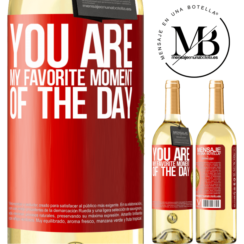 24,95 € Free Shipping | White Wine WHITE Edition You are my favorite moment of the day Red Label. Customizable label Young wine Harvest 2020 Verdejo