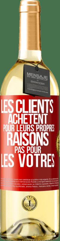 24,95 € Envoi gratuit | Vin blanc Édition WHITE Les clients achètent pour leurs raisons, pas les vôtres Étiquette Rouge. Étiquette personnalisable Vin jeune Récolte 2020 Verdejo