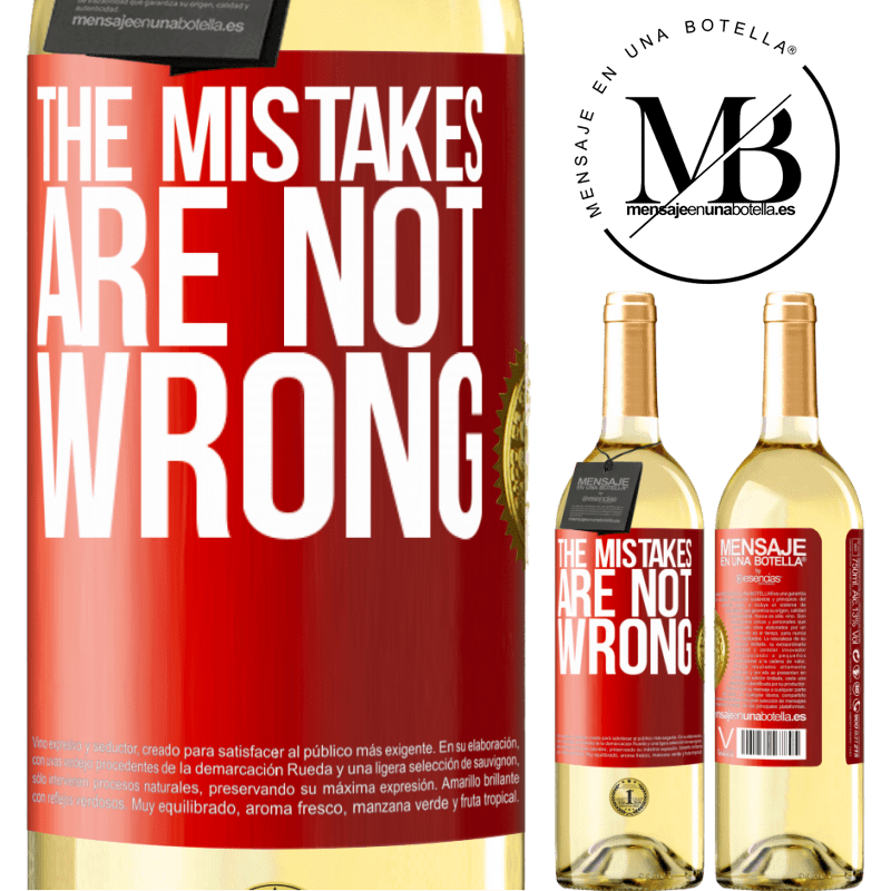 24,95 € Free Shipping   White Wine WHITE Edition The mistakes are not wrong Red Label. Customizable label Young wine Harvest 2020 Verdejo
