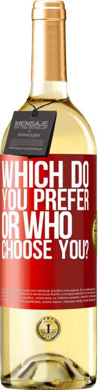 24,95 € Free Shipping | White Wine WHITE Edition which do you prefer, or who choose you? Red Label. Customizable label Young wine Harvest 2020 Verdejo