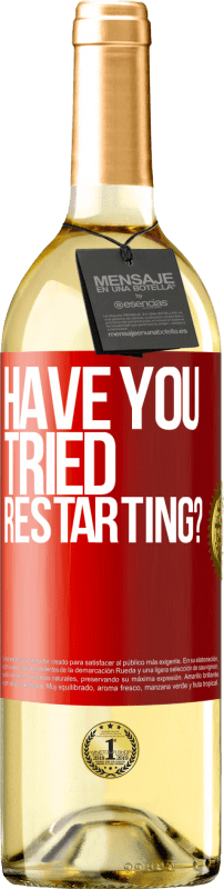 24,95 € | White Wine WHITE Edition have you tried restarting? Red Label. Customizable label Young wine Harvest 2020 Verdejo