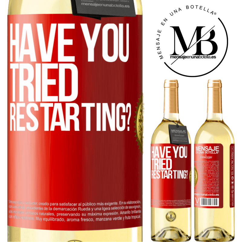 24,95 € Free Shipping   White Wine WHITE Edition have you tried restarting? Red Label. Customizable label Young wine Harvest 2020 Verdejo