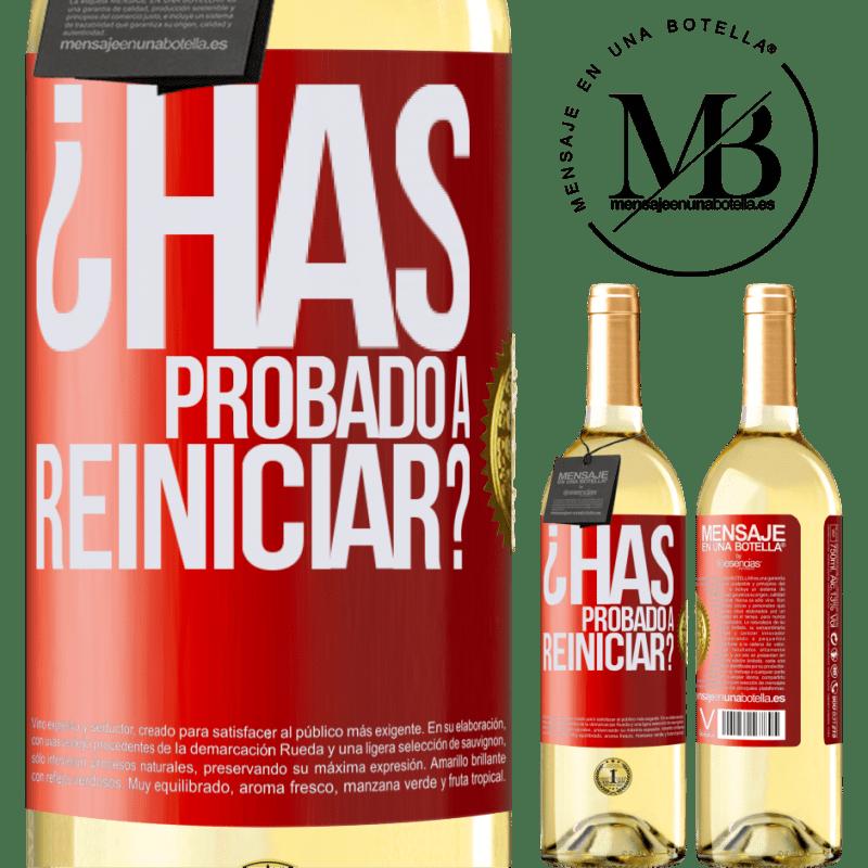 24,95 € Envoi gratuit   Vin blanc Édition WHITE avez-vous essayé de redémarrer? Étiquette Rouge. Étiquette personnalisable Vin jeune Récolte 2020 Verdejo