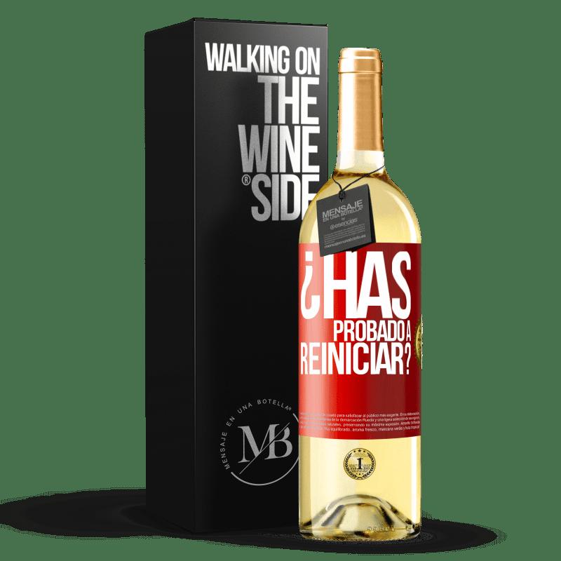 24,95 € Envoi gratuit | Vin blanc Édition WHITE avez-vous essayé de redémarrer? Étiquette Rouge. Étiquette personnalisable Vin jeune Récolte 2020 Verdejo