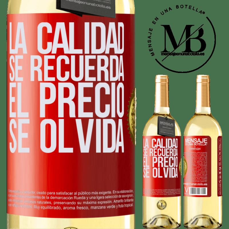 24,95 € Envoi gratuit   Vin blanc Édition WHITE La qualité est mémorisée, le prix est oublié Étiquette Rouge. Étiquette personnalisable Vin jeune Récolte 2020 Verdejo