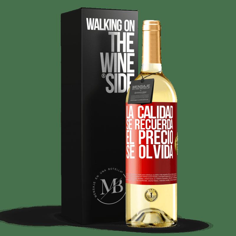 24,95 € Envoi gratuit | Vin blanc Édition WHITE La qualité est mémorisée, le prix est oublié Étiquette Rouge. Étiquette personnalisable Vin jeune Récolte 2020 Verdejo