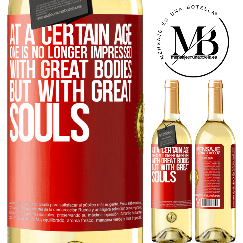 24,95 € Free Shipping   White Wine WHITE Edition At a certain age one is no longer impressed with great bodies, but with great souls Red Label. Customizable label Young wine Harvest 2020 Verdejo