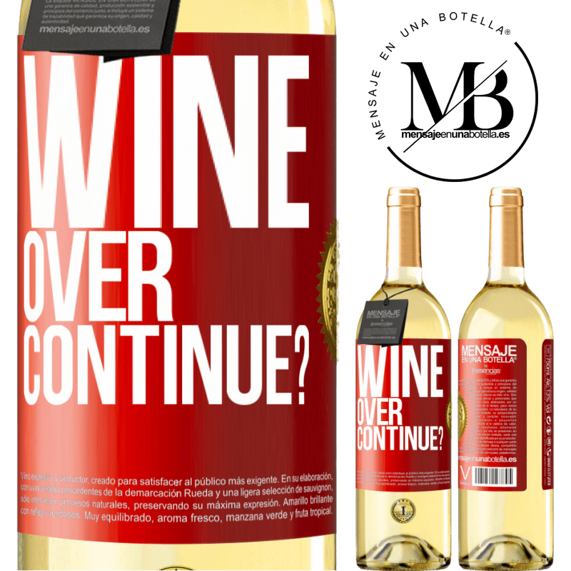 24,95 € Free Shipping | White Wine WHITE Edition Wine over. Continue? Red Label. Customizable label Young wine Harvest 2020 Verdejo