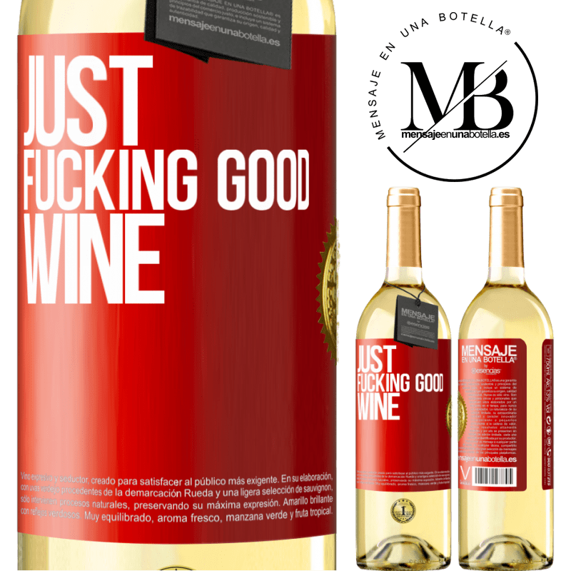 24,95 € Free Shipping | White Wine WHITE Edition Just fucking good wine Red Label. Customizable label Young wine Harvest 2020 Verdejo