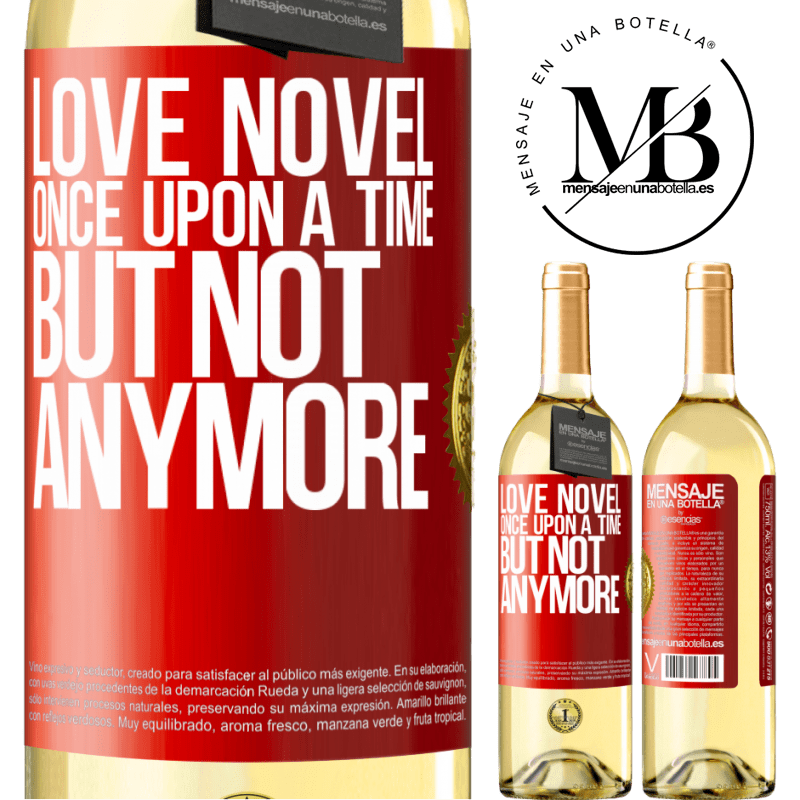 24,95 € Free Shipping | White Wine WHITE Edition Love novel. Once upon a time, but not anymore Red Label. Customizable label Young wine Harvest 2020 Verdejo