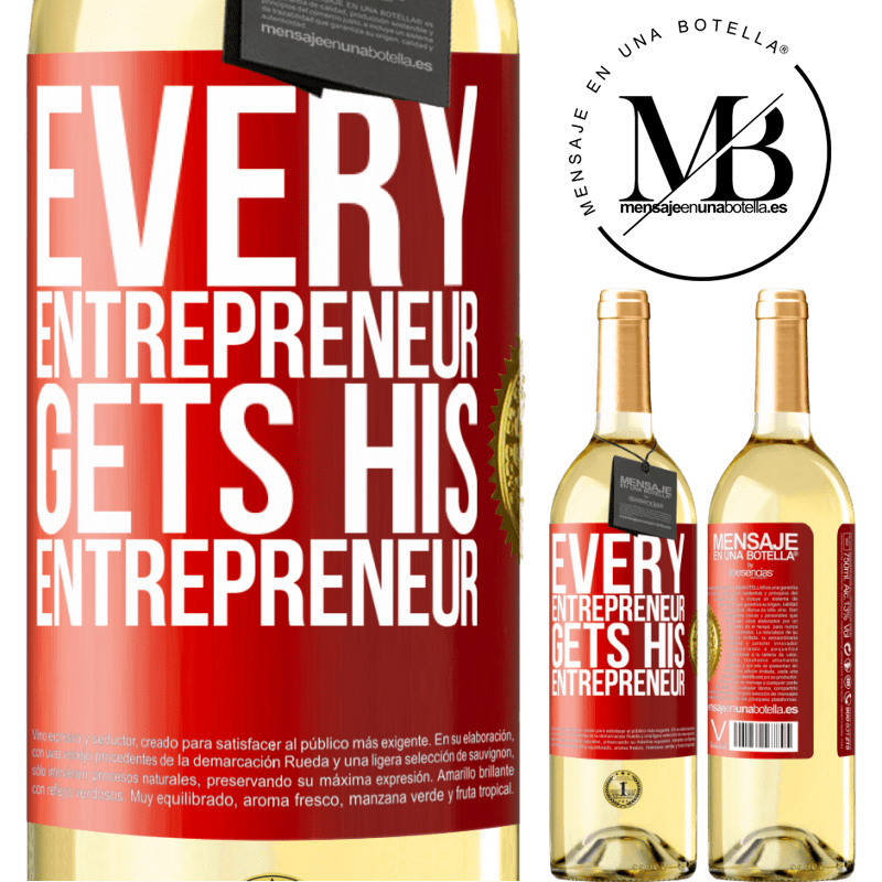 24,95 € Free Shipping | White Wine WHITE Edition Every entrepreneur gets his entrepreneur Red Label. Customizable label Young wine Harvest 2020 Verdejo