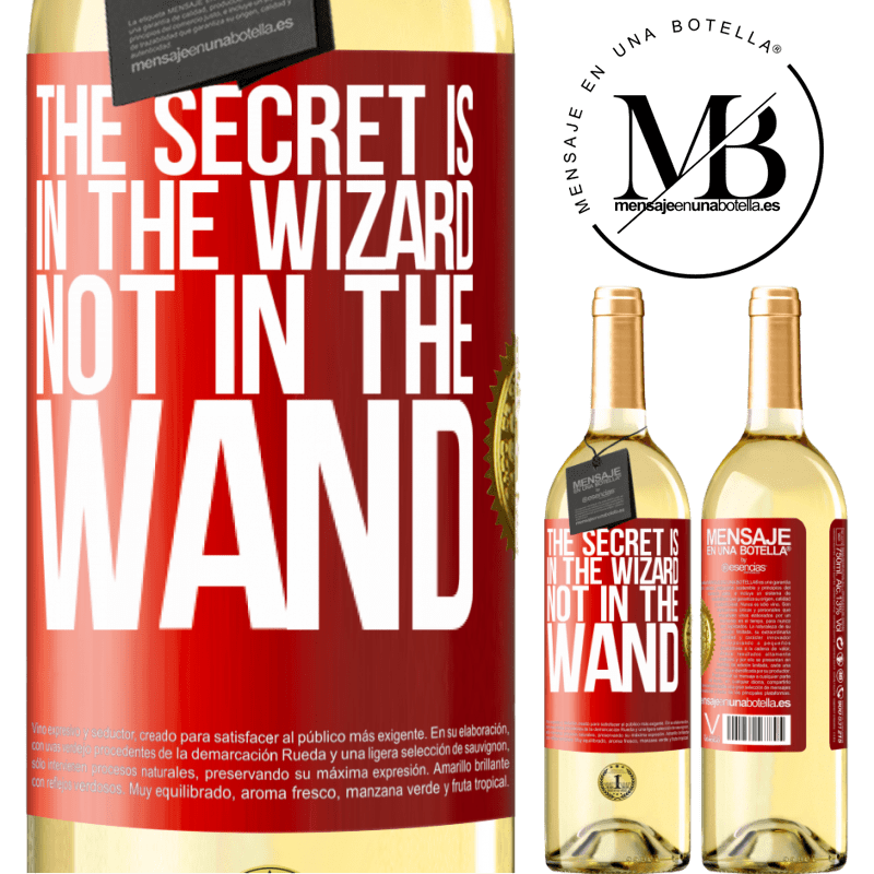 24,95 € Free Shipping | White Wine WHITE Edition The secret is in the wizard, not in the wand Red Label. Customizable label Young wine Harvest 2020 Verdejo