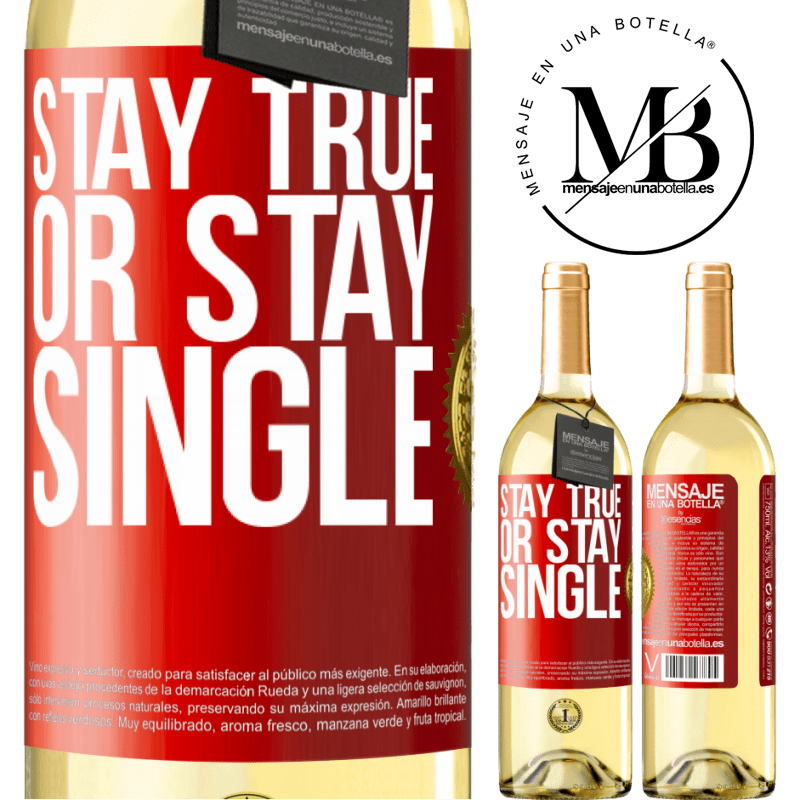 24,95 € Free Shipping   White Wine WHITE Edition Stay true, or stay single Red Label. Customizable label Young wine Harvest 2020 Verdejo