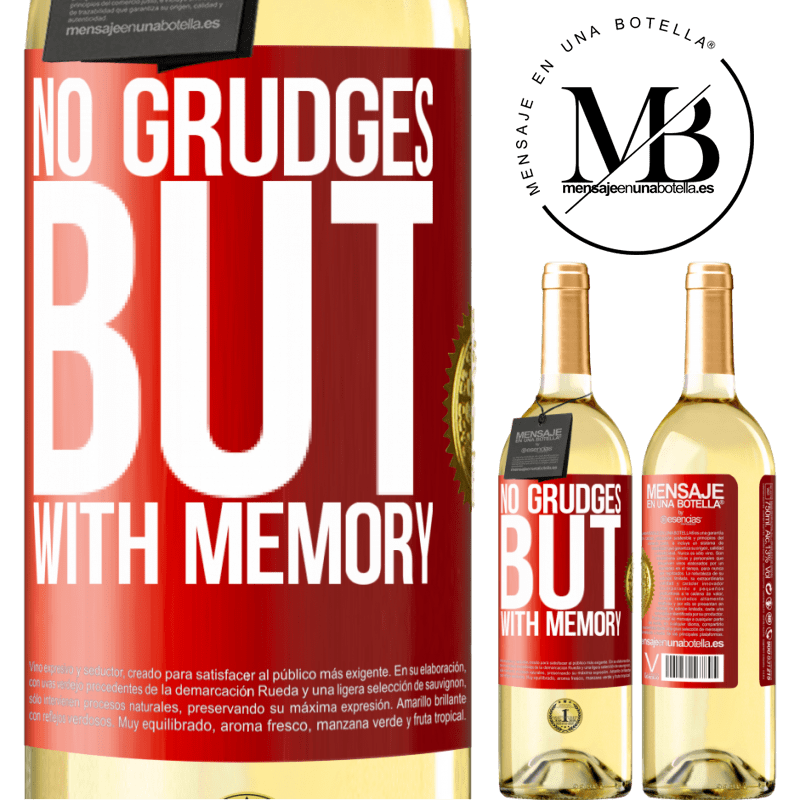 24,95 € Free Shipping   White Wine WHITE Edition No grudges, but with memory Red Label. Customizable label Young wine Harvest 2020 Verdejo