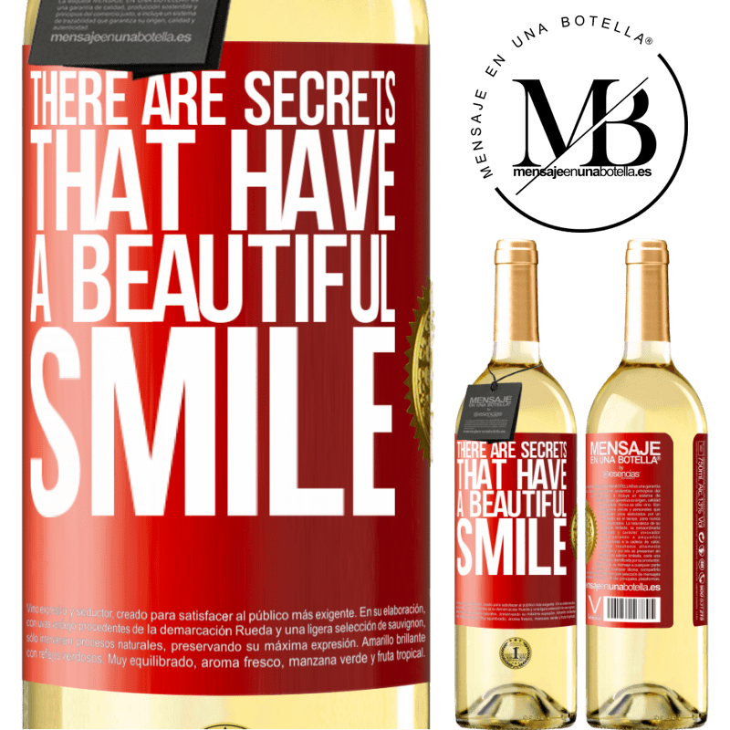 24,95 € Free Shipping | White Wine WHITE Edition There are secrets that have a beautiful smile Red Label. Customizable label Young wine Harvest 2020 Verdejo