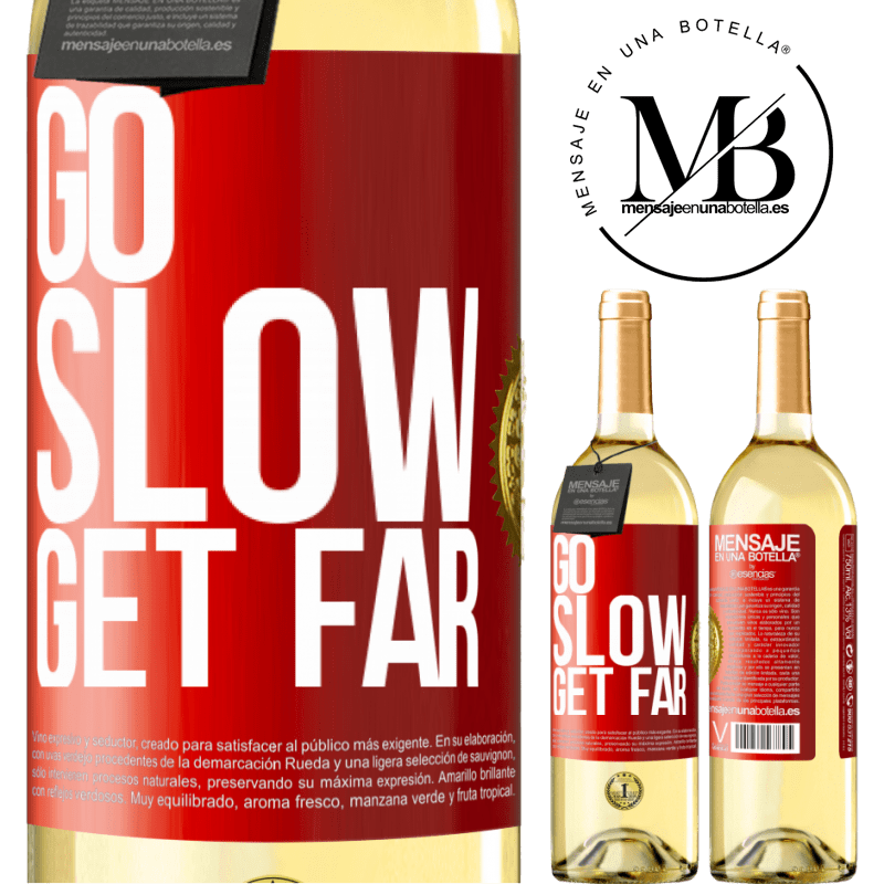 24,95 € Free Shipping   White Wine WHITE Edition Go slow. Get far Red Label. Customizable label Young wine Harvest 2020 Verdejo