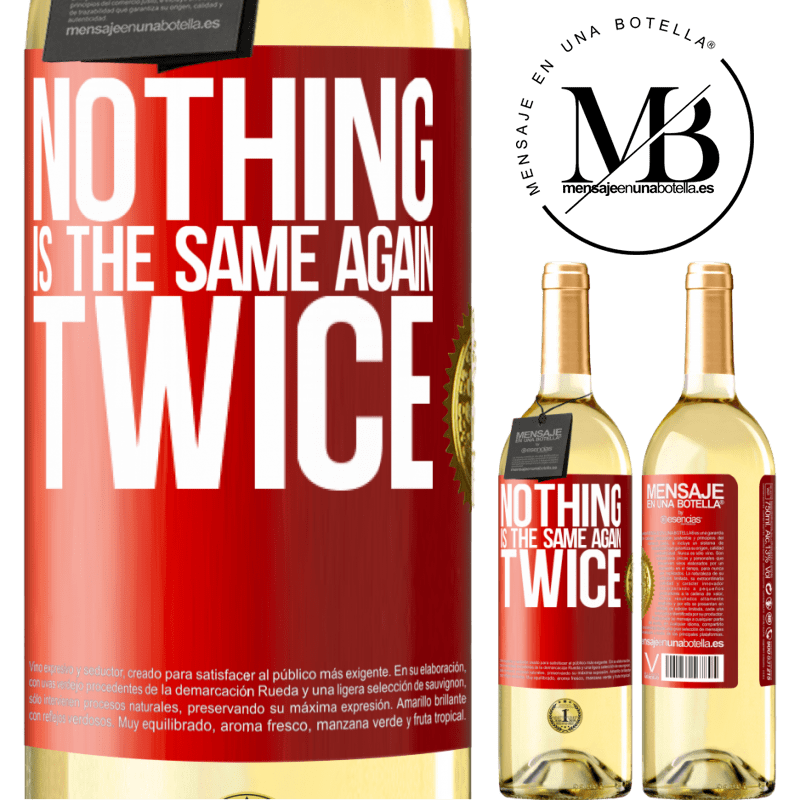 24,95 € Free Shipping | White Wine WHITE Edition Nothing is the same again twice Red Label. Customizable label Young wine Harvest 2020 Verdejo