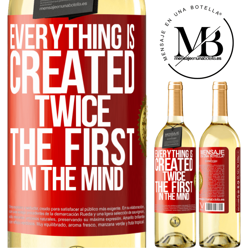24,95 € Free Shipping | White Wine WHITE Edition Everything is created twice. The first in the mind Red Label. Customizable label Young wine Harvest 2020 Verdejo