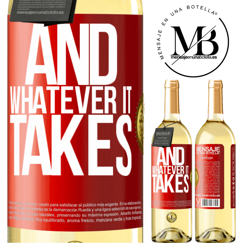 24,95 € Free Shipping   White Wine WHITE Edition And whatever it takes Red Label. Customizable label Young wine Harvest 2020 Verdejo