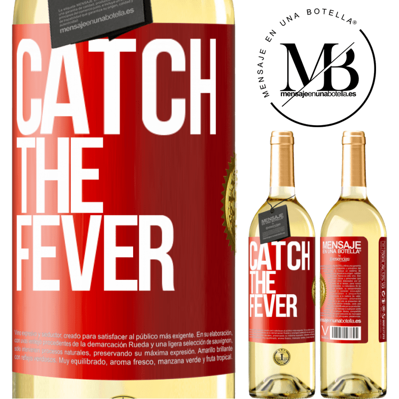 24,95 € Free Shipping | White Wine WHITE Edition Catch the fever Red Label. Customizable label Young wine Harvest 2020 Verdejo