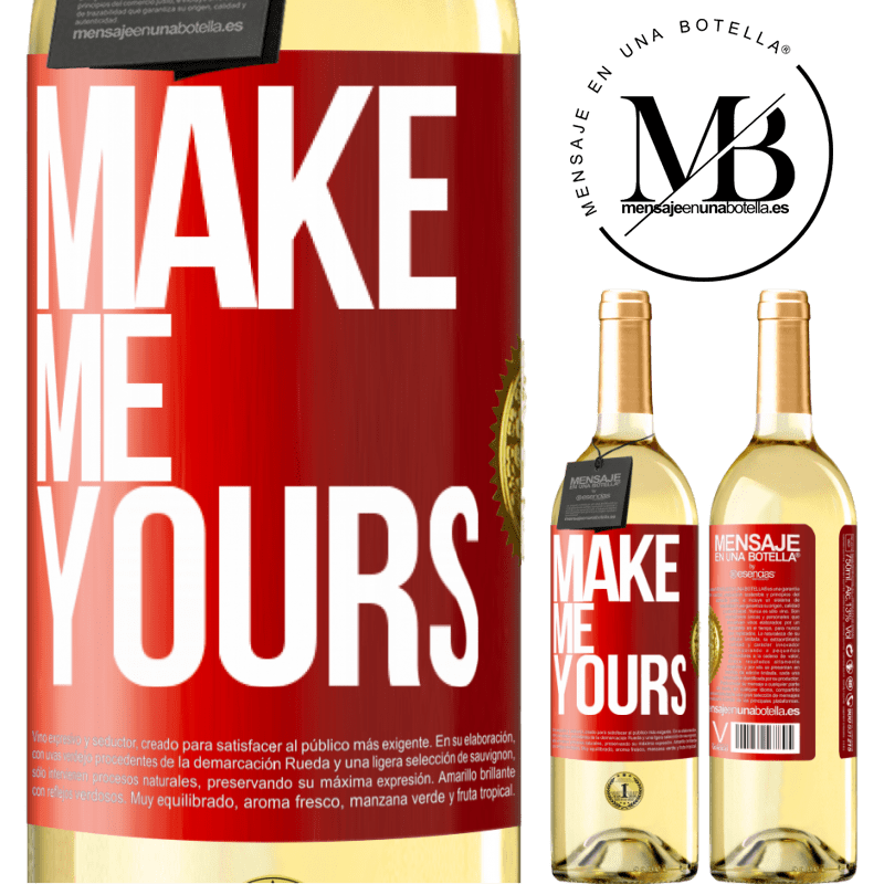 24,95 € Free Shipping | White Wine WHITE Edition Make me yours Red Label. Customizable label Young wine Harvest 2020 Verdejo