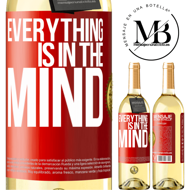24,95 € Free Shipping | White Wine WHITE Edition Everything is in the mind Red Label. Customizable label Young wine Harvest 2020 Verdejo