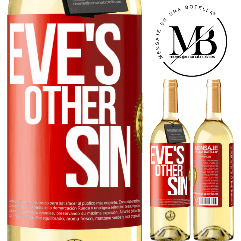 24,95 € Free Shipping | White Wine WHITE Edition Eve's other sin Red Label. Customizable label Young wine Harvest 2020 Verdejo
