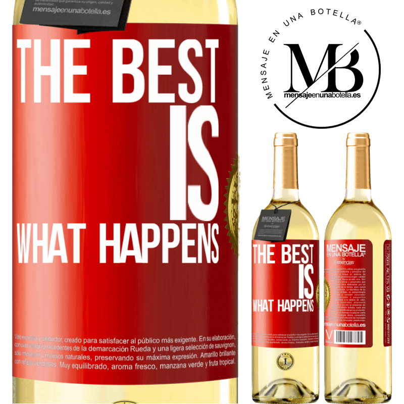 24,95 € Free Shipping | White Wine WHITE Edition The best is what happens Red Label. Customizable label Young wine Harvest 2020 Verdejo