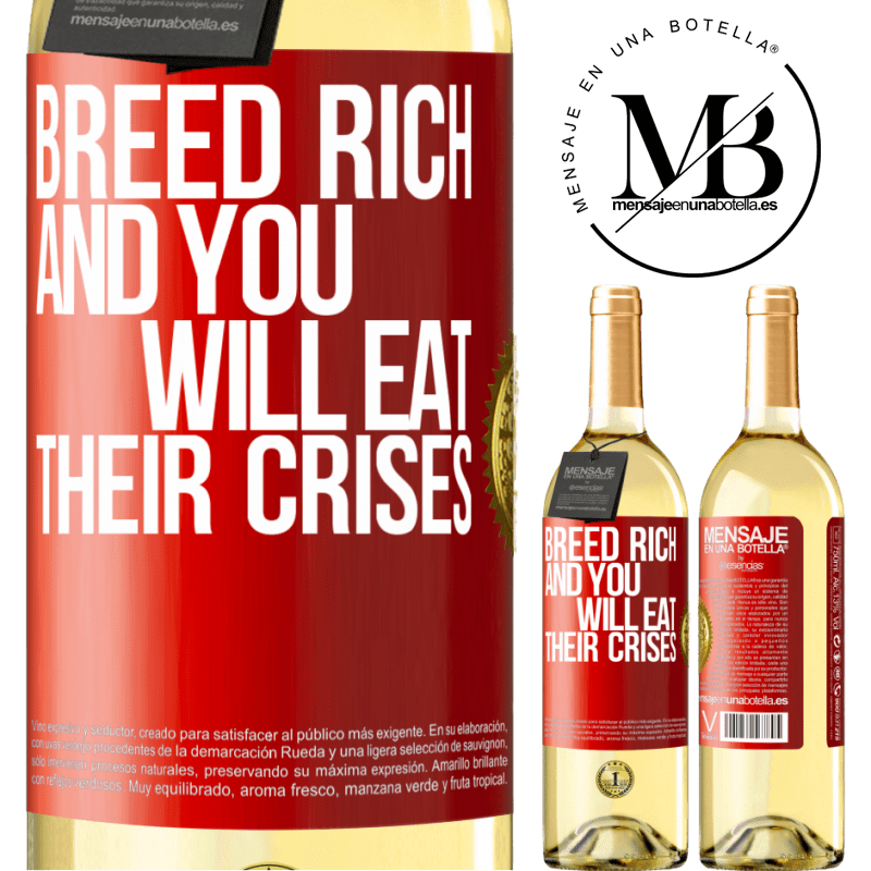 24,95 € Free Shipping | White Wine WHITE Edition Breed rich and you will eat their crises Red Label. Customizable label Young wine Harvest 2020 Verdejo