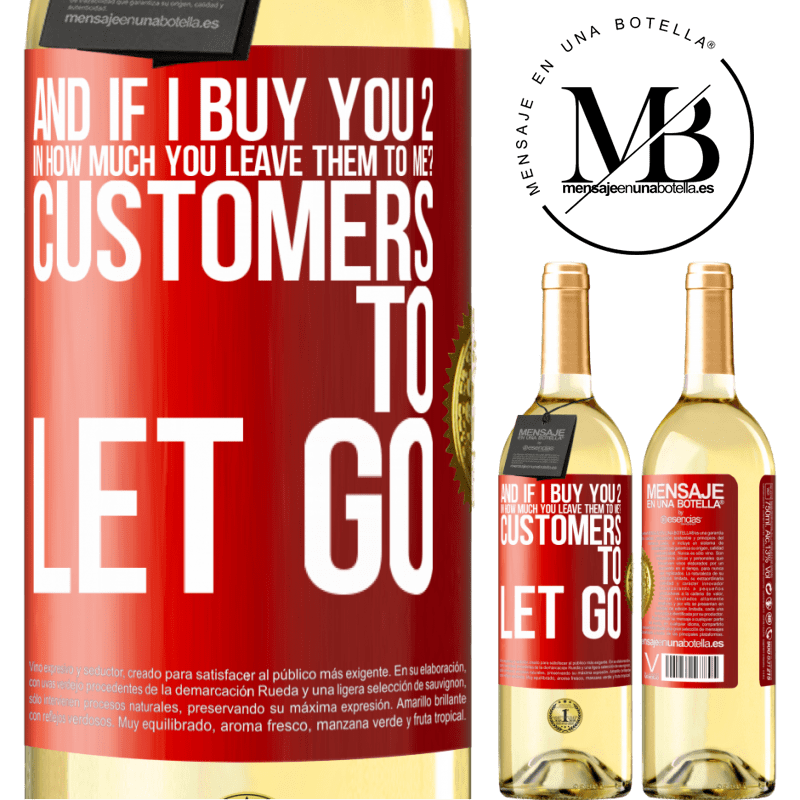 24,95 € Free Shipping   White Wine WHITE Edition and if I buy you 2 in how much you leave them to me? Customers to let go Red Label. Customizable label Young wine Harvest 2020 Verdejo